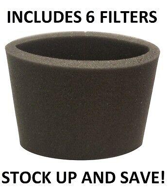 (6) Foam Filter Sleeve For Craftsman Shop Vac 938765 Sterke Weerstand Tegen Hitte En Hard Dragen