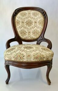 Antique-Victorian-Carved-Chair