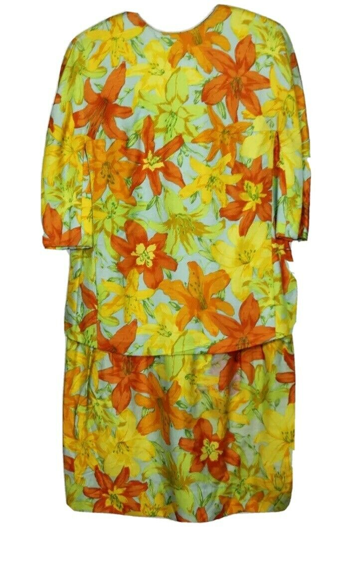 Scaasi Boutique Ruth Roaman Vintage1960s  Bold Fl… - image 6