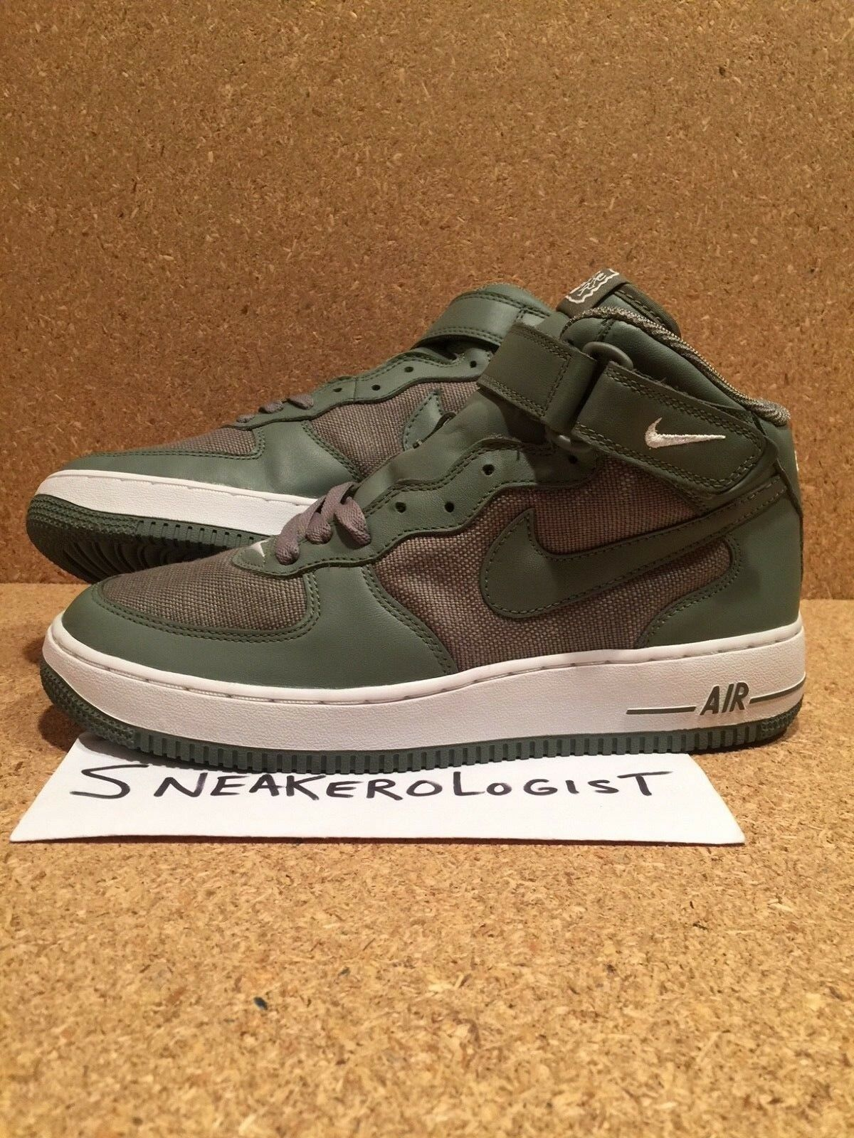 9694cccbfc NIKE AIR FORCE 1 MID SZ 9 drum island classic olive 2005 vintage rare le  classic