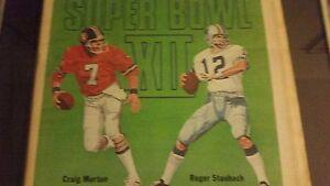 SUPER BOWL 1978 DALLAS COWBOYS n BRONCOS original SPORTING NEWS! Staubach Morton