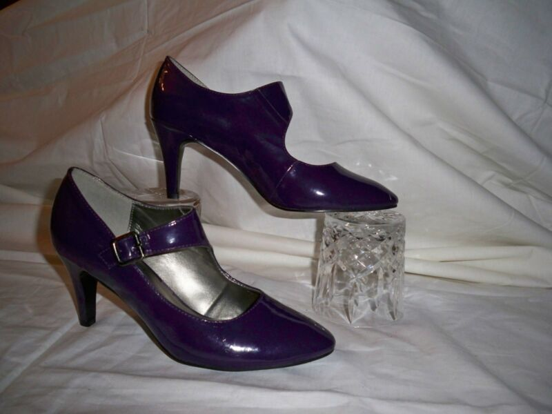 Lotus Plus Purple Patent Pumps /courts/ Mary Jane Shoes Uk 5