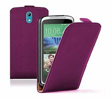 Ultra Slim PURPLE Leather Flip Case Cover Pouch for HTC Desire 526G Dual