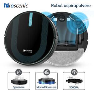 Proscenic 850P Robot Aspirapolvere Lavapavimenti x Peli Animali Mappatura 3000Pa