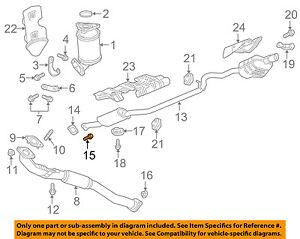 gmc gm oem 17 18 acadia 2 5l l4 exhaust muffler pipe. Black Bedroom Furniture Sets. Home Design Ideas