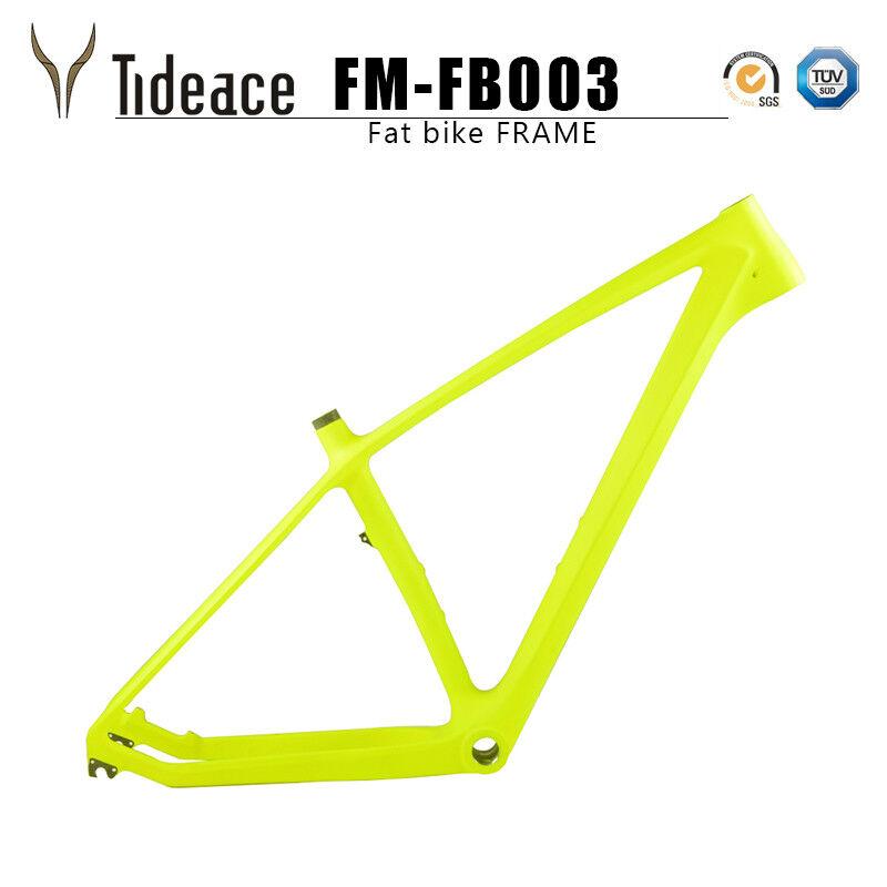 Fibre De voiturebone Graisse de cadre de vélo vert noir 26er T800 voiturebone neige Bicycle frameset