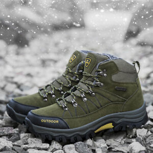 Men-039-s-Hiking-Shoes-Snow-Climbing-Boots-Casual-Breathable-Athletic-Winter-Outdoor