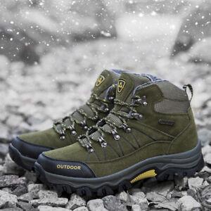 Para-Hombres-Zapatos-De-Senderismo-Botas-informales-transpirables-atleticos-Escalada-Nieve-Invierno