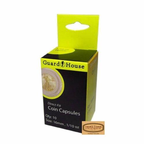 Guardhouse 1//10 Oz Gold Eagle Direct Fit Capsules,10 per Box #7881645