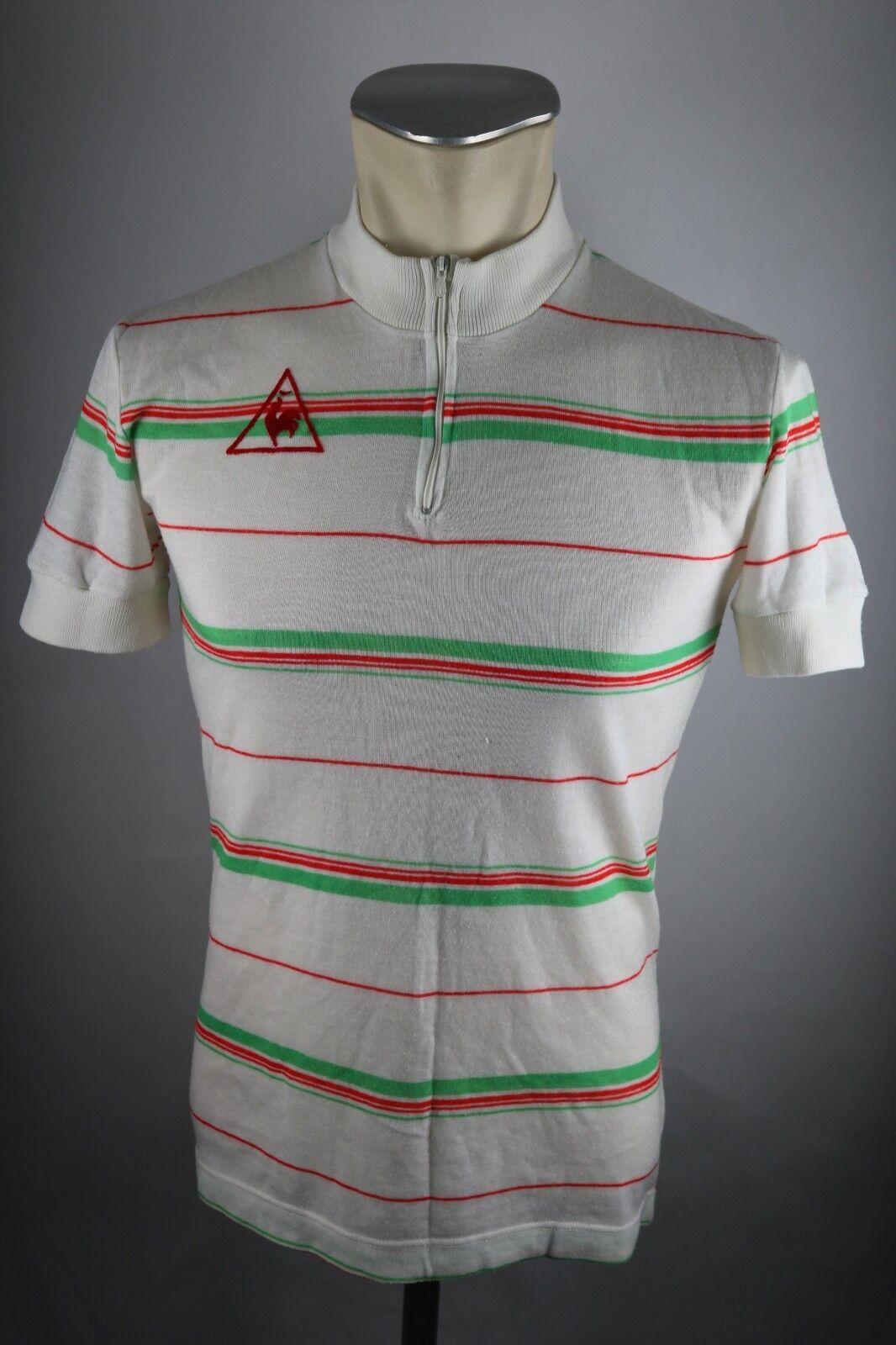 Le coq sportif  Radtrikot 80er Gr. S 48cm cycling jersey LS Acrylic Shirt F6  deals sale