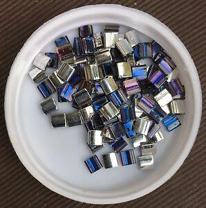 5x5mm-Tila-Beads-2-0-8mm-Holes-Crystal-Helio-4554-3-5g