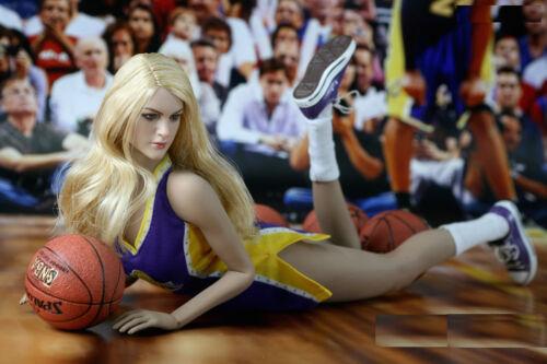 """1//6 NBA Lakers Cheerleader Costume un pour PHICEN Hot Toys TBLeague 12/"""" figure féminine"""