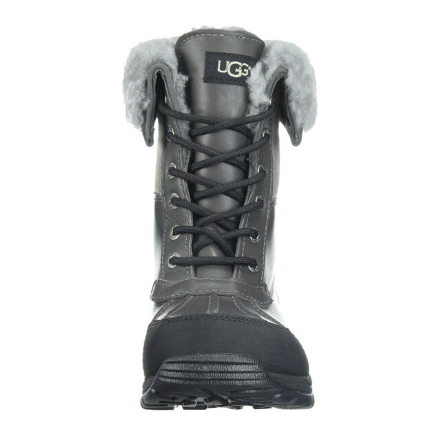 ca6799c8446 UGG Men's Butte Snow Boot STYLE#5521 BLACK/GREY/BROWN, SIZE 7-13