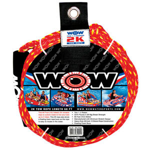 Tube-Tow-Rope-2-Rider-60ft-Float-Tubing-Water-Sports-Towable-WOW-Water-Sports
