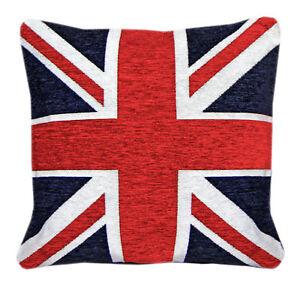 Image Is Loading Union Jack Cushion Cover British Flag 18 034