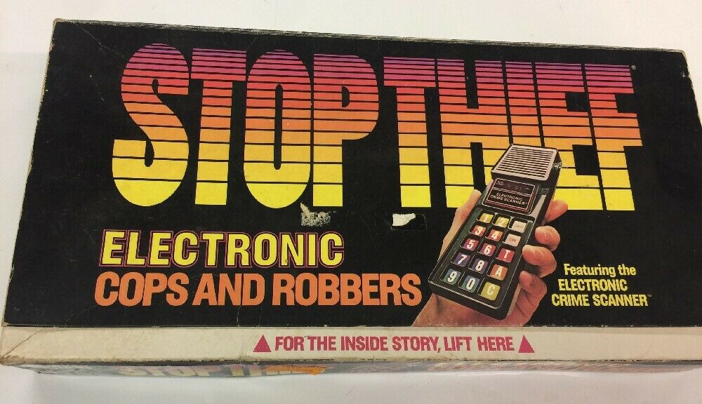 Stop Thief  Electronic Cops & Robbers Game Rare  Scanner works