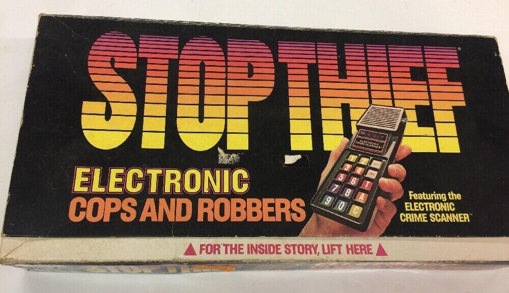 Stop Thief  Electronic Cops & Robbers gioco Rare   Scanner lavoros   incredibili sconti