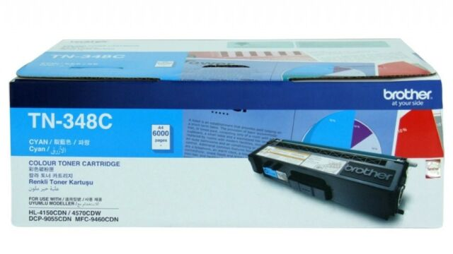 Brother Genuine TN-348C CYAN Toner For DCP9055CDN HL4150CDN 9460CDN 6K Pages