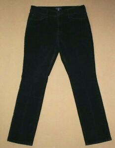 NYDJ-NOT-YOUR-DAUGHTERS-JEANS-Petite-Black-Corduroy-Pants-Size-8P