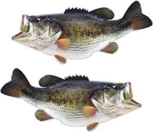 2 Largemouth Bass Decals Senko Fishing Rod Reel Crank Bait
