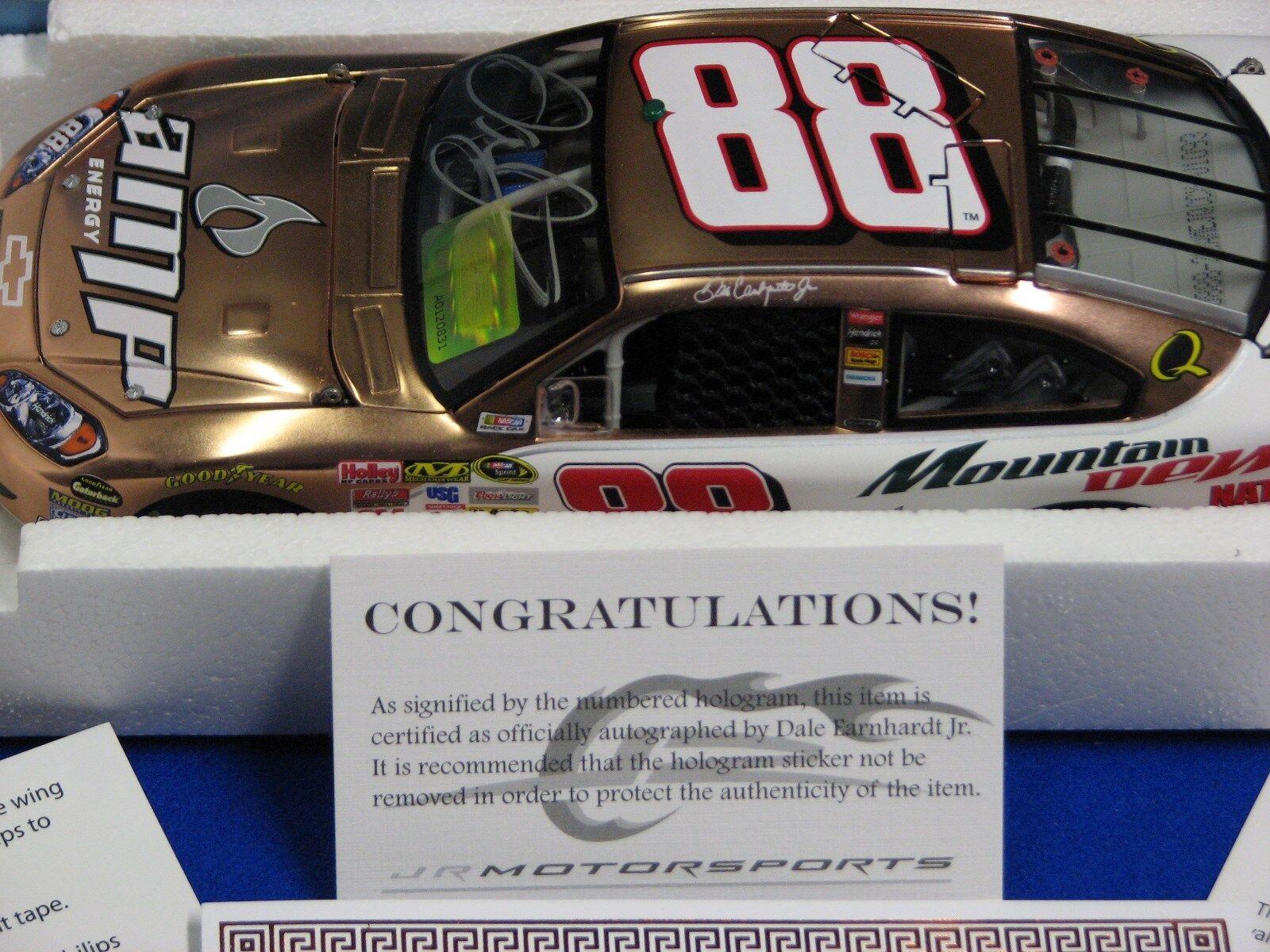 Dale Earnhardt Jr  88 1; 24 Escala  2008 Plateado Cobre Amp Autografiada QVC