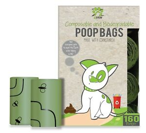 Details About Compole And Biodegradable Dog Bags Leave Zero Waste 160 Pet