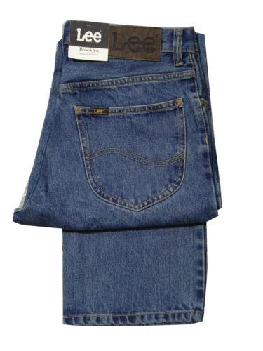 Da Uomo Lee Brooklyn Alto 36 Pollici Gamba-X Jeans Gamba Lunga Comfort Fit-Stonewash
