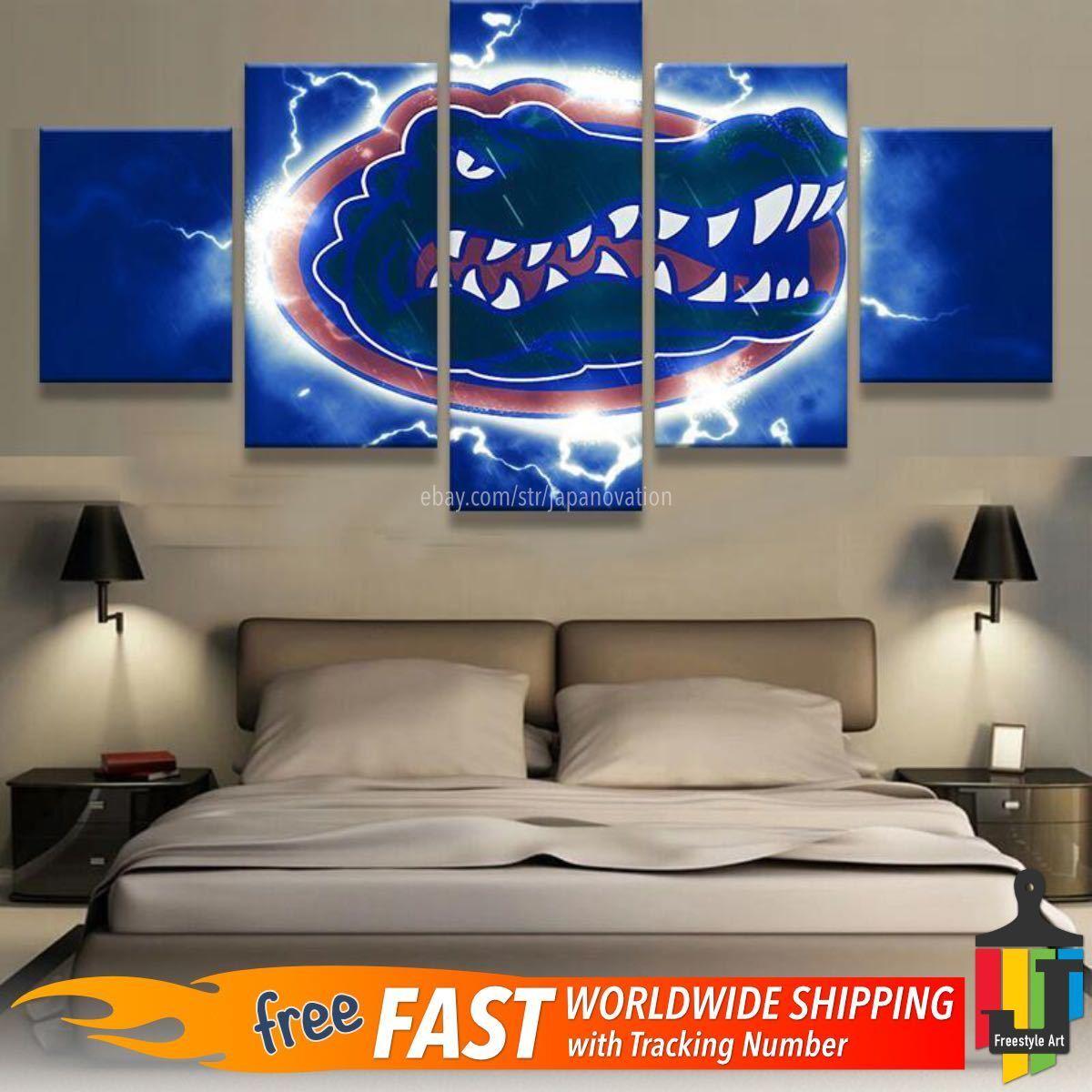 Florida Gators Sports 5 Panel Modern Wall art printing canvas hanging home decor