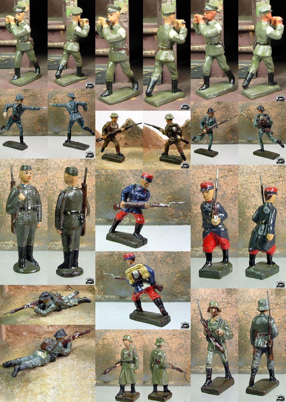 Lineol 7cm - 12 personaggi prima 1945 soldati