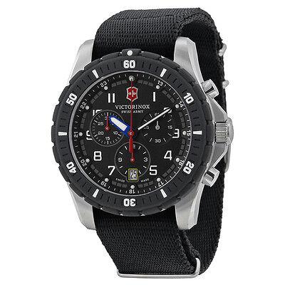 Victorinox Swiss Army Maverick Sport Chronograph Black Dial Black Rubber Mens