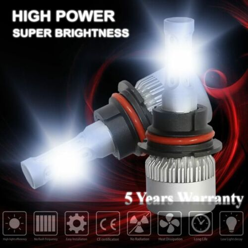 LED Headlight Bubls 9007 HB5 Hi-Lo Beam Conversion Kit 1800W 252000LM Lamp Light