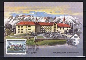 Maxi Card A90 Liechtenstein 1985 Monastery Schellenberg