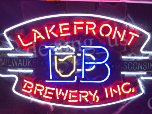 "New Lakefront Brewery Inc Milwaukee Wisconsin Beer Neon Sign 24/""x20/"""