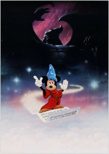 Fantasia Mickey Mouse Classic Movie Large Poster Art Print Maxi A1 A2 A3 A4