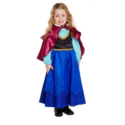 Hielo Princesa Disfraz Elaborado disfrazarse Frozen Anna Cuento de Hadas Historia Niñas Conjunto día