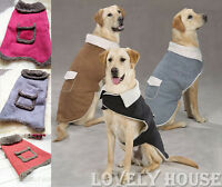 NEW Warm Cosy Pet Clothes Dogs Cats Coat Jumper Vest Jacket Red Size S-XXL