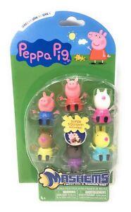 PEPPA-PIG-Mash-039-s-Squishy-Fun-6-figurine-Pack-Neuf