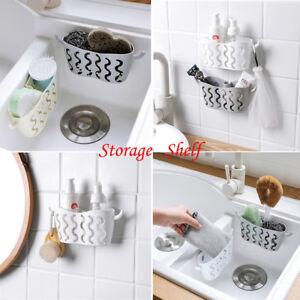 Details about Kitchen Sink Caddy Sponge Holder Storage Organizer Soap  Drainer Rack Strainer CU