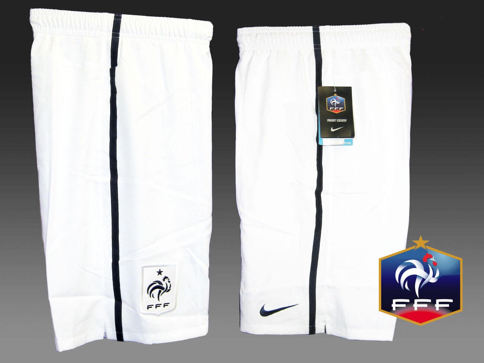 New NIKE FRANCE Federation Shorts White Youth Boys Girls M Age 10-12 Yrs