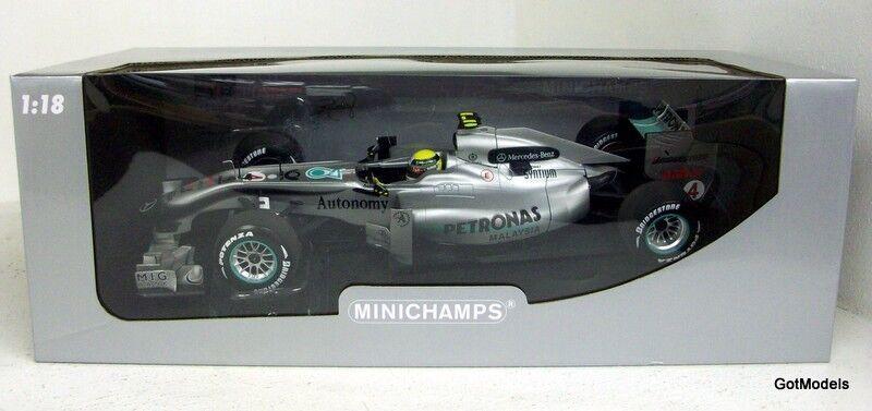 Minichamps 1 18 - 110 100004 Mercedes Gp F1 Team Mgp W01-Nico Rosberg 2010