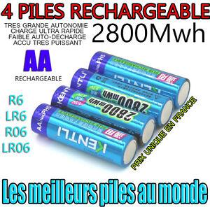 4 batterien wiederaufladbare batterien aa 2800mwh lithium li ion 1 5 v kentli r6 ebay. Black Bedroom Furniture Sets. Home Design Ideas