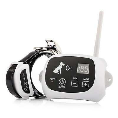 500M Wireless Shock Electric Fence Pet Dog Training Collar LED Display US Stock