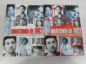 Anatomia-de-Grey-Seconda-Stagione-2-Completa-8-X-DVD-Spagnolo-English-Am