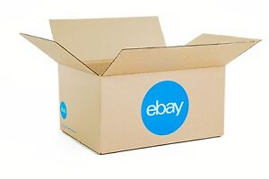 """eBay-Branded Boxes With Blue 2-Color Logo 16"""" x 12"""" x 8"""""""