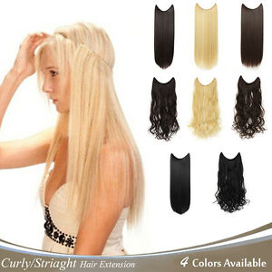 OneDor-20-034-24-034-Curly-Striaght-Synthetic-Hair-extensions-Transparent-wire-No-clip
