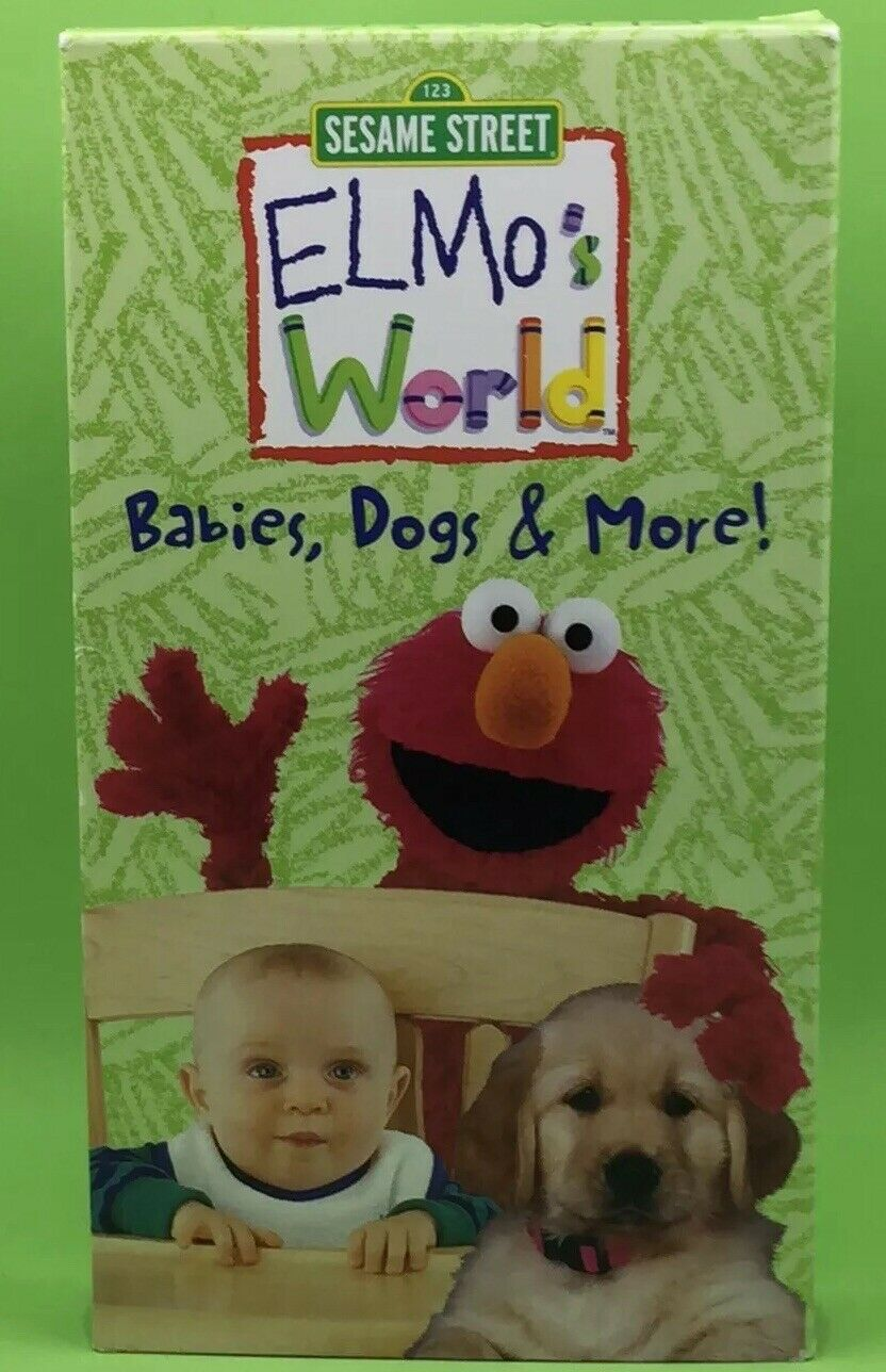 Elmos World Babies Dogs More Vhs 2000
