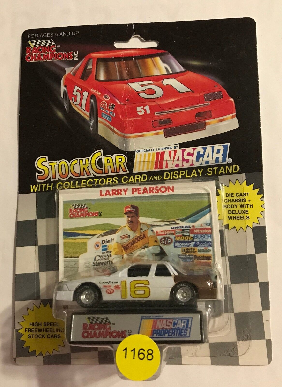 1990 RARE NASCAR PROPERTIES  LARRY PEARSON  RARE