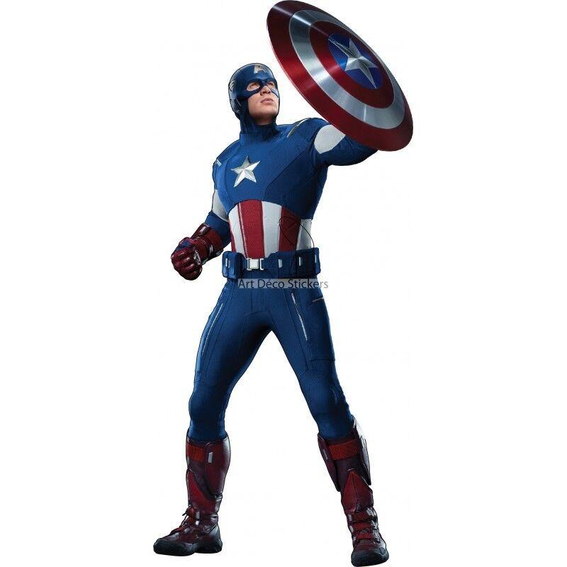 Los Vengadores Capitán América de la etiqueta engomada 3102