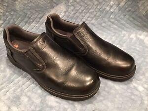 merrell mens moc slip on casual loafer shoe black leather