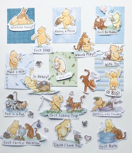 Die Cuts With Quotes For Scrapbook Pages Winnie The Pooh Scrapbook Papers